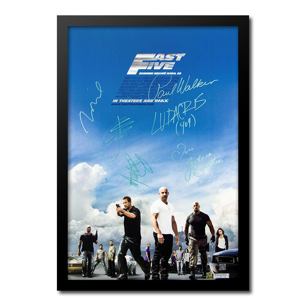 Cast signed movie posters