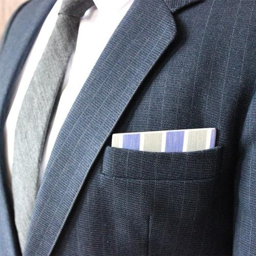 Wooden Pocket Square | Blue Green Pastelli | Baffi