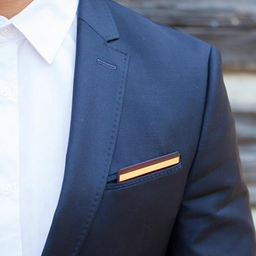 Wooden Pocket Square | Rosewood Gold