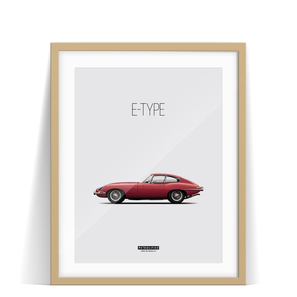 car prints, jaguar, jaguar etype, luxury car art
