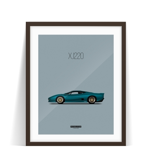 car prints, jaguar, jaguar xj220, luxury car art