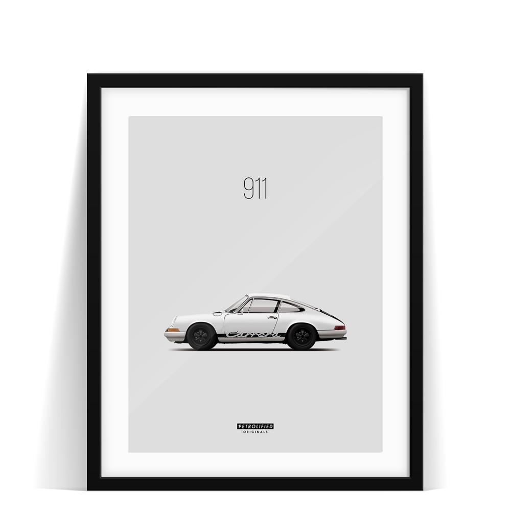 car prints, Porsche 911, luxury car art