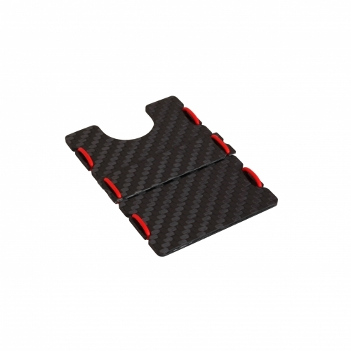 Ultra Carbon Fiber Wallet - Red, Slimtech