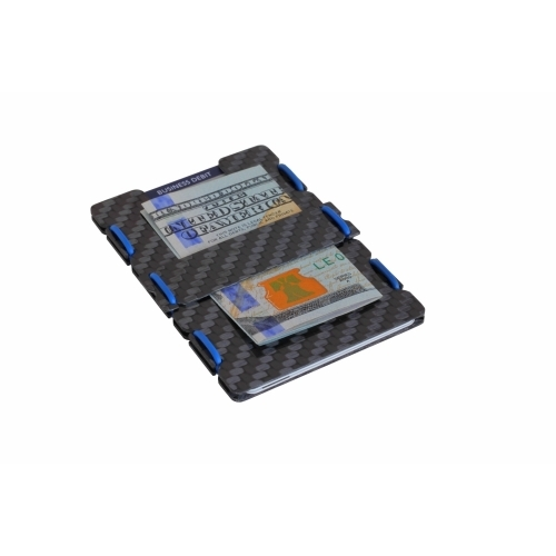 Ultra Carbon Fiber Wallet - Blue, Slimtech