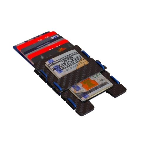 Ultra Carbon Fiber Wallet - Blue, Slimtech