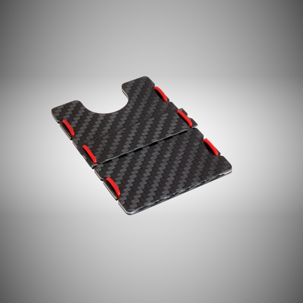 RIFD Carbon Fiber Wallet - Red, Slimtech