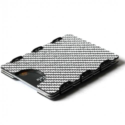 RFID Carbon Fiber Card Case, Silver