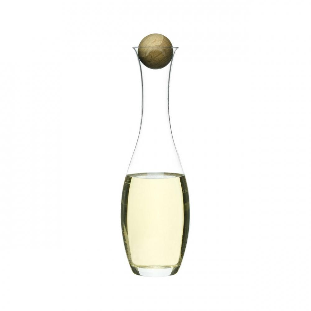 White Wine Or Water Glass Carafe with Oak Stopper | Sagaform