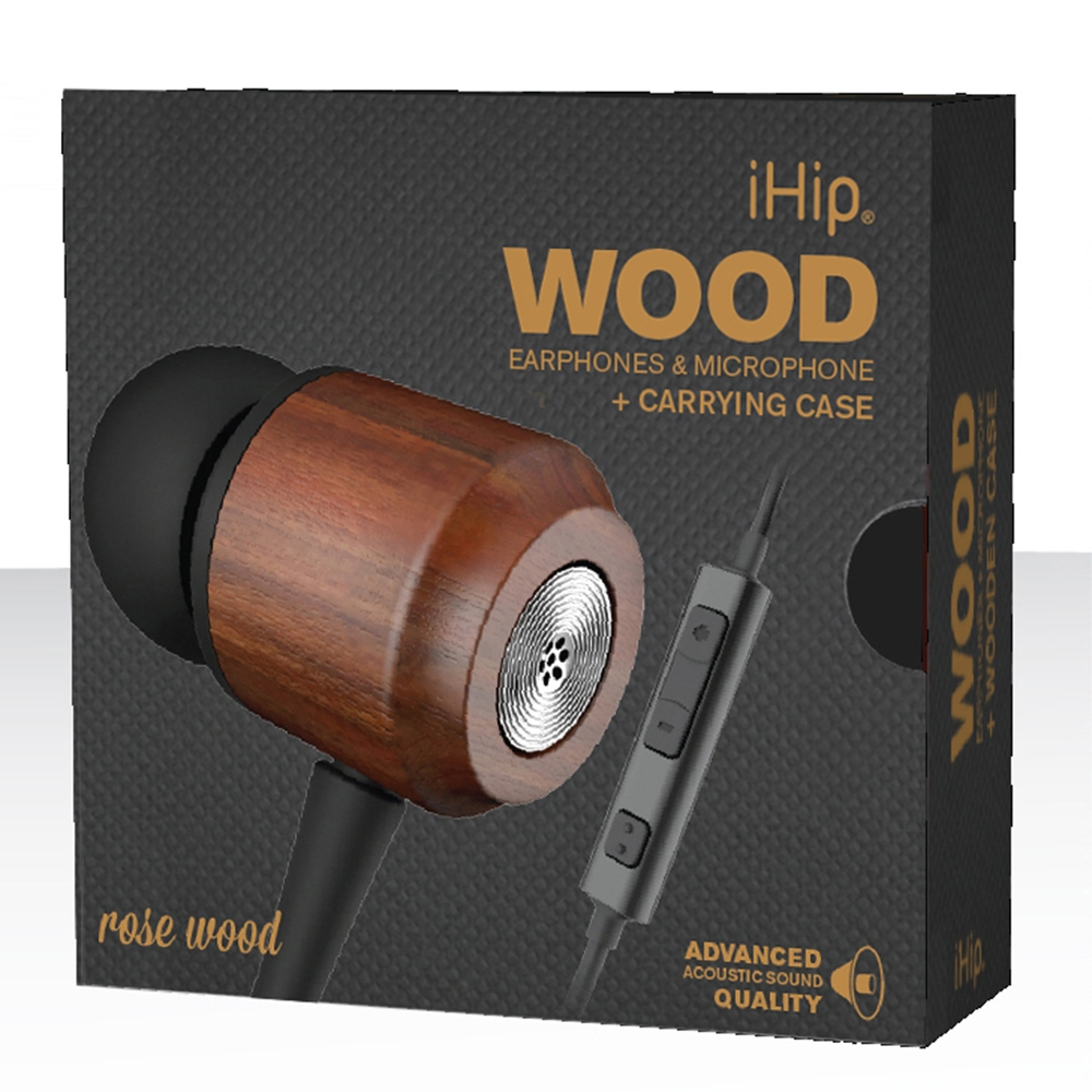 Rose Wood Earphone, iHip