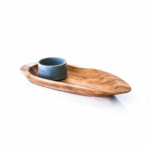 Acacia Chip/Dip Platter, Ellipse