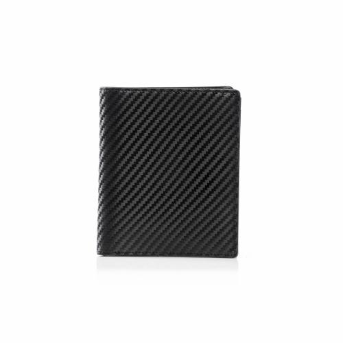 RFID Leather Carbon Slim Wallet