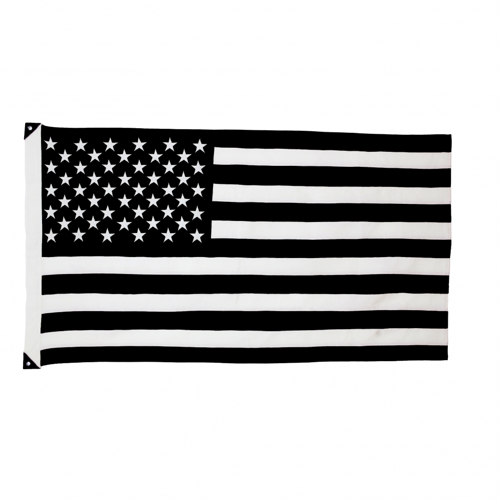 Wool American Flag, B+W, Savarin & Charton