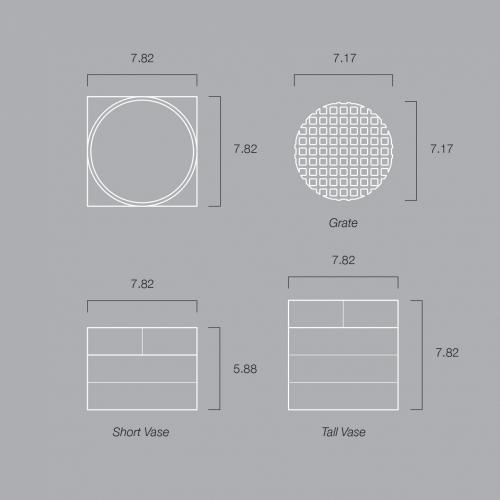 Short Utility Vase | Black | Luur