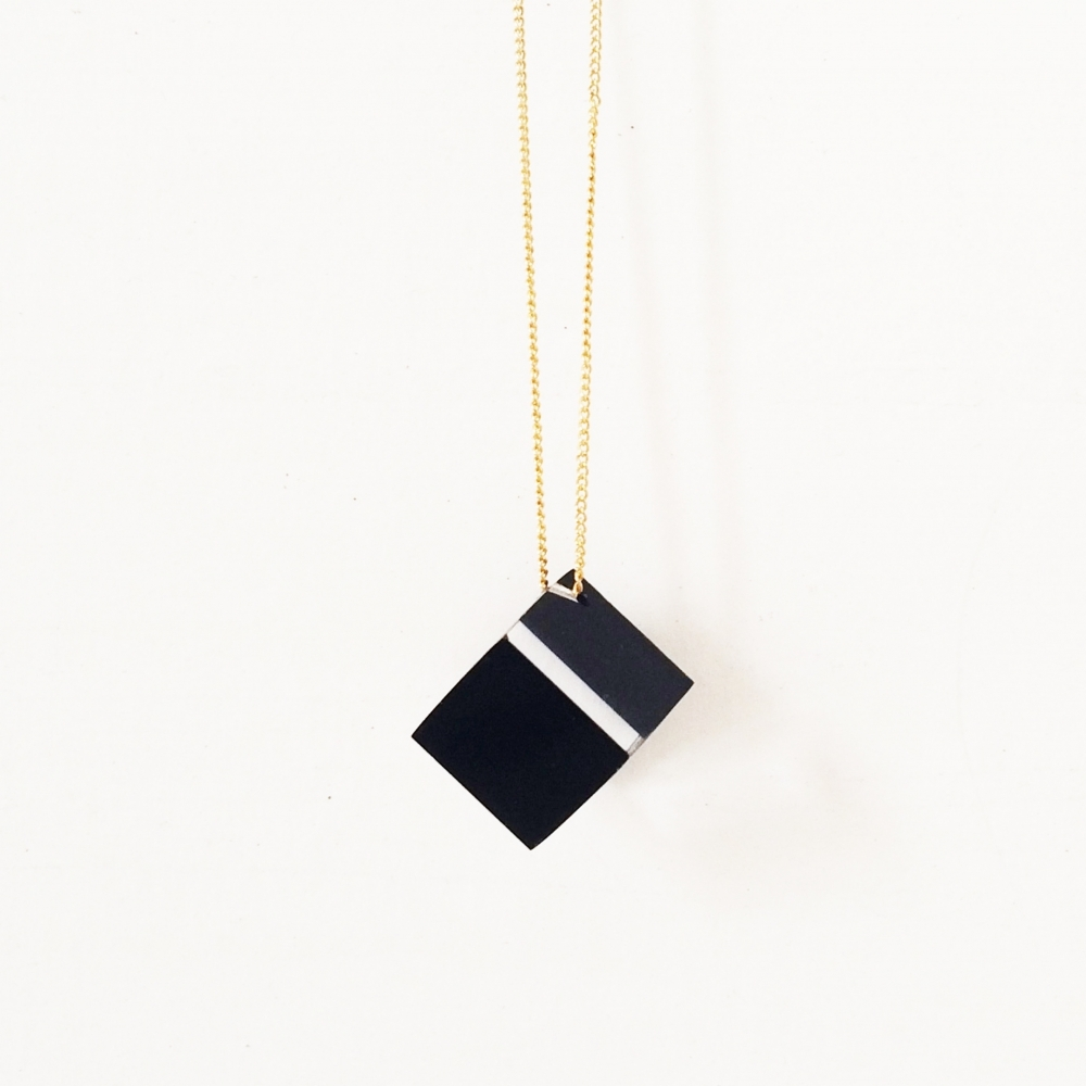 Acrylic Cube Necklace, Deon Rubi