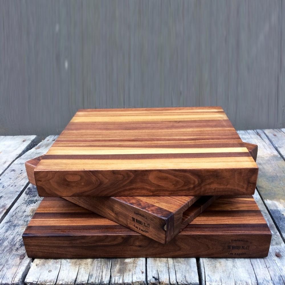 Square Edge Grain Board, The Wooden Palate