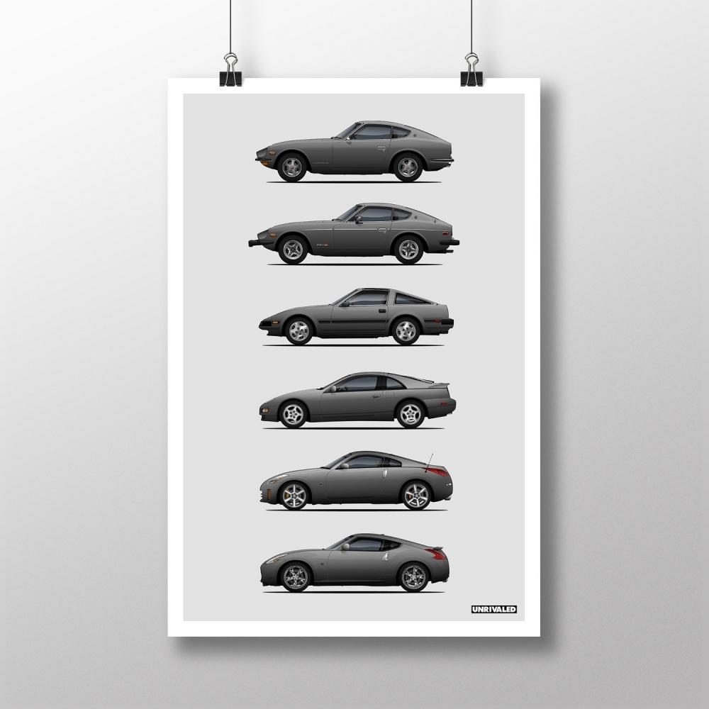 Nissan Z Generations Print, Unrivaled