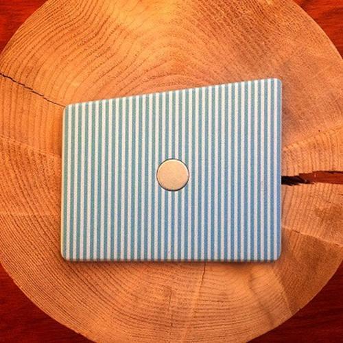 Wooden Pocket Square | Pinstripe
