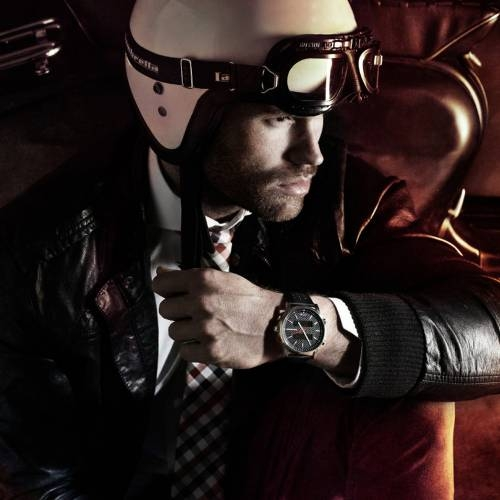 Avanti Leather Black   Lambretta Watches