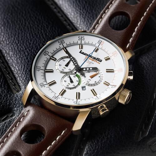 Imola Gold Leather White   Lambretta Watches