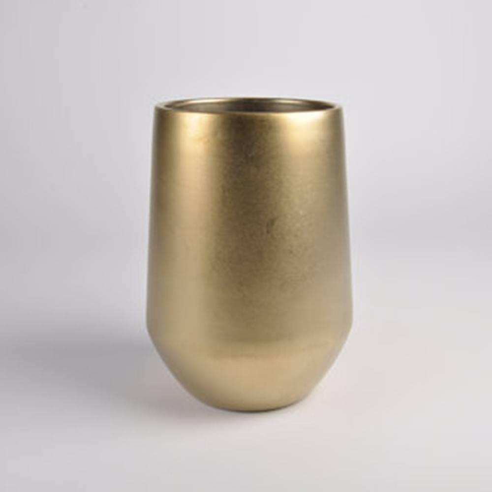 Fusion Vase D16, Gold - Fine Matte Ceramic Pot