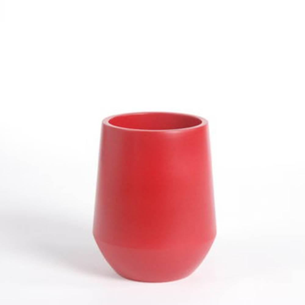 Fusion Vase D16, Red - Fine Matte Ceramic Pot