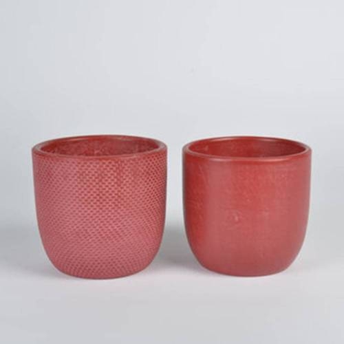 Micmac Pot Set of 2, Red