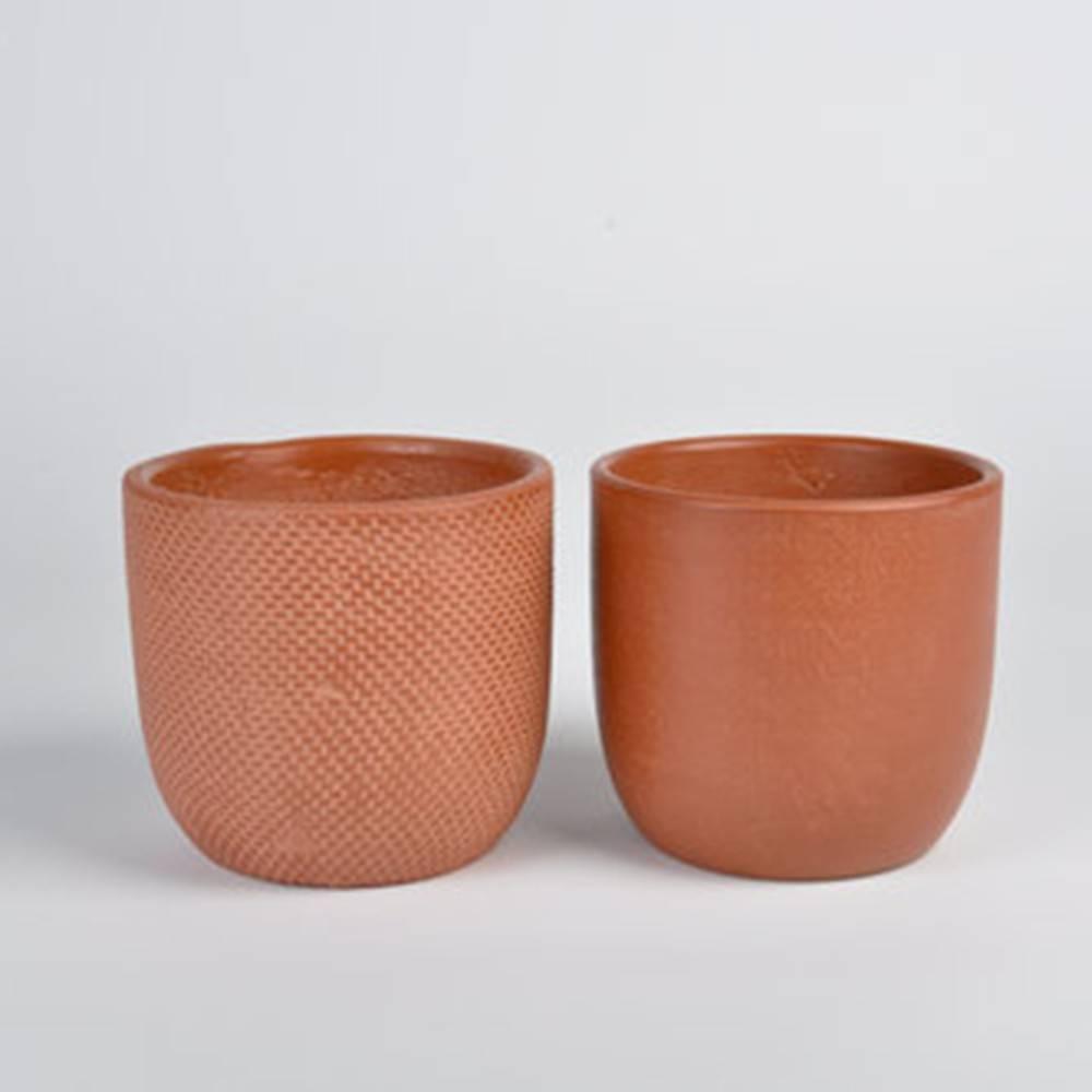 Micmac Pot, Set of 2 - Vietnamese Clay Handmade Pots