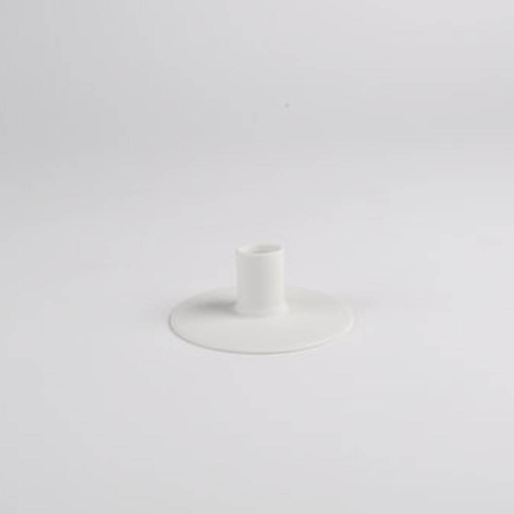 Zest Candle holder, White - Porcelain Candlesticks with Wubber Paint