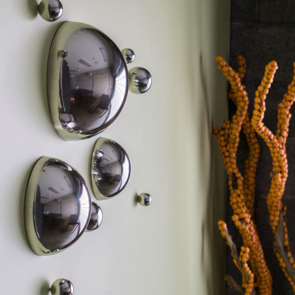 Stainless Steel Half Balls - Wall Decoration Set