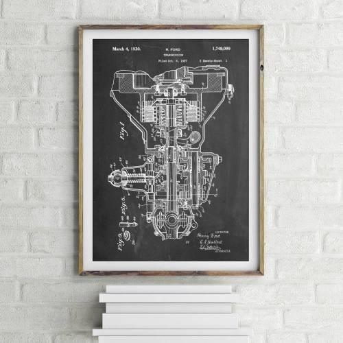 Automobile Transmission Patent Print