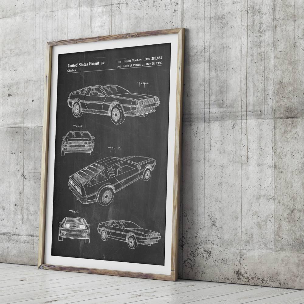 Delorean Patent Print - Patent Prints