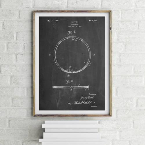 Piston Ring Patent Print