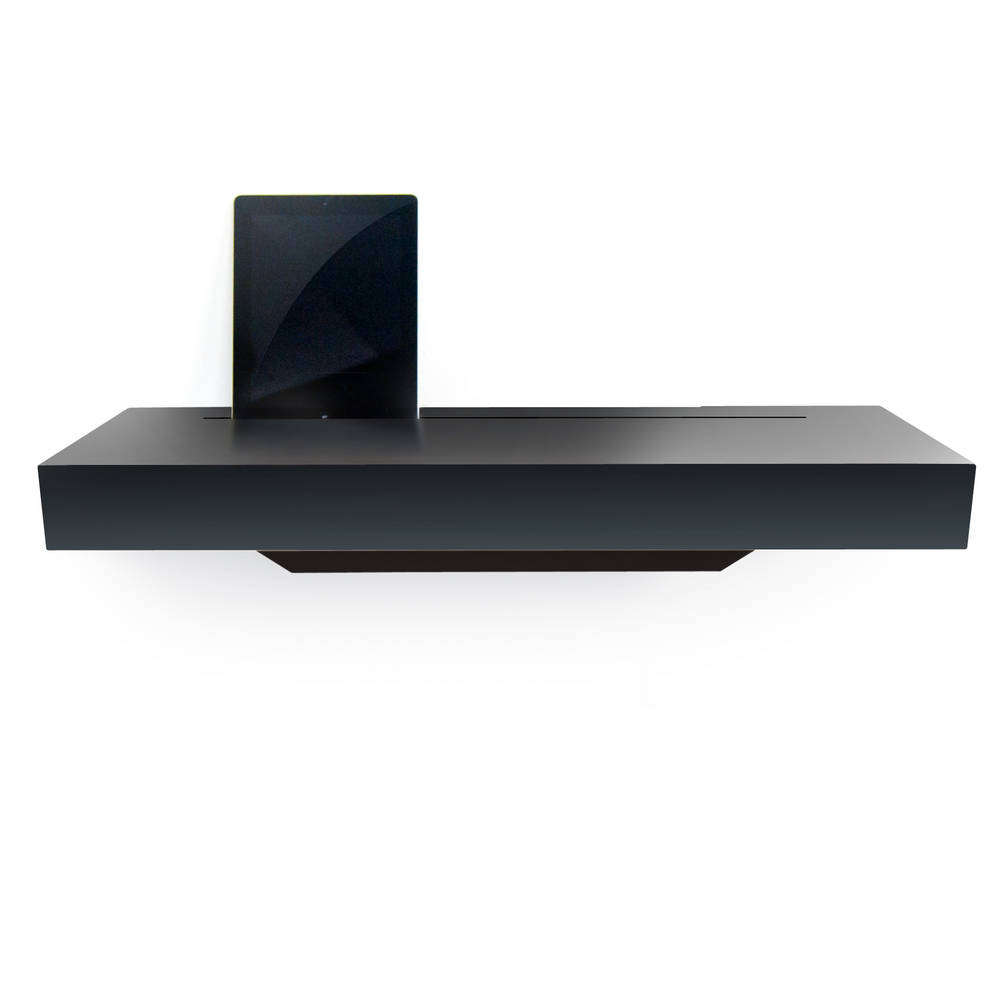 Stage Interactive Shelf Black Gloss - An Elegant Meeting Place for all your Re-chargeable Handheld Devices