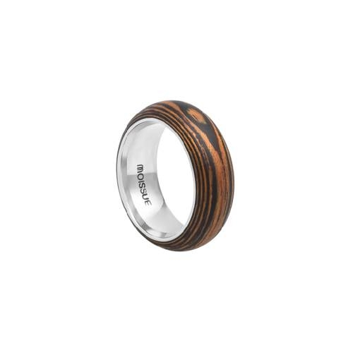 Duo Wide Ebony + Mahogany Ring