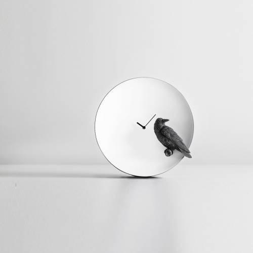 Moon X Raven Clock