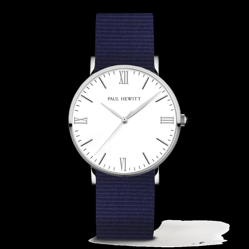 Silver Line Watch, Navy Blue - Paul Hewitt