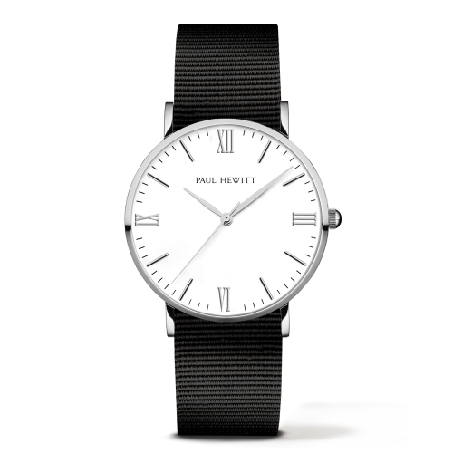 Silver Line Watch, Black