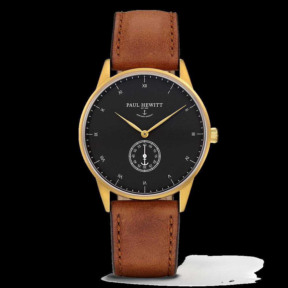 Mark I Leather Watch, Black Sea - Paul Hewitt