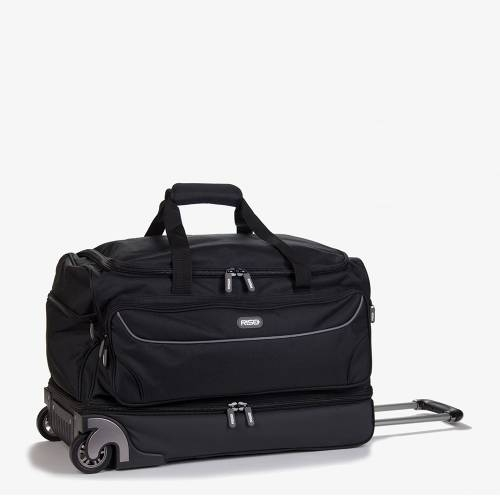 Roller Duffle Bag with Collapsible Shelves | GREY