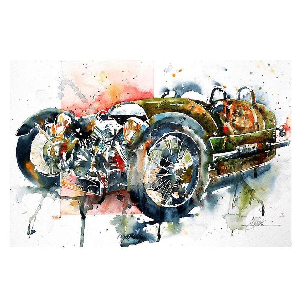 Morgan 3-Wheeler Watercolor Print | By The Artist Bilbeisi