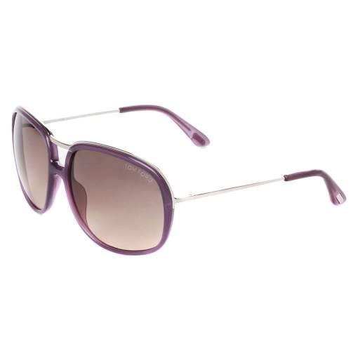 Tom Ford TF282 78B Cori Shiny Lilac Aviator Sunglasses