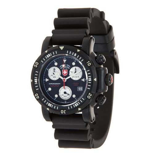 Swiss Military Watches  - SEEWOLF I SCUBA NERO, Black