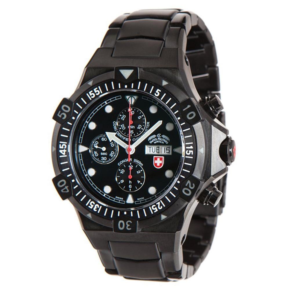 Swiss Military Watches - CONGER NERO AUTO, Black
