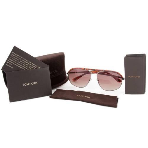 Tom Ford TF234 16B Russell Sunglasses Shiny Palladium Frame