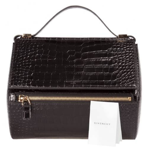 Givenchy Croc Embossed Medium Pandora Bag