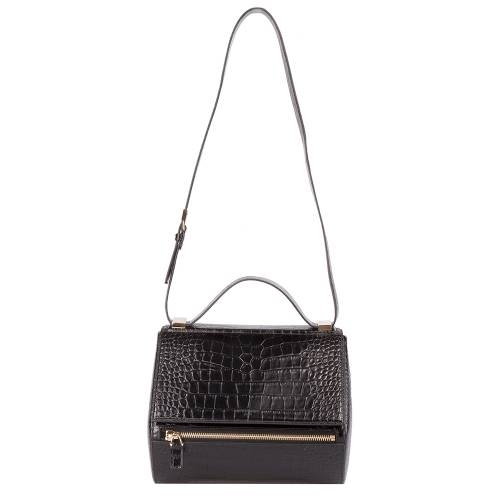Medium Givenchy Croc Embossed Pandora Bag