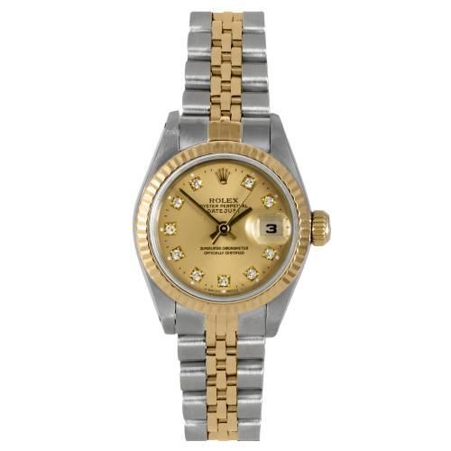 Ladies Yellow Gold Datejust Watch
