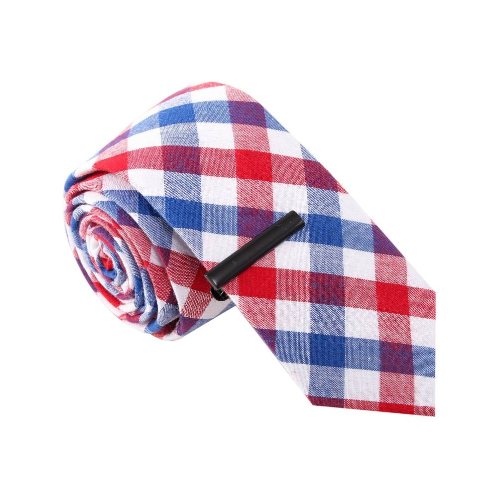 ' Marty Mcfly' Black and Red Tie with Tie Clip