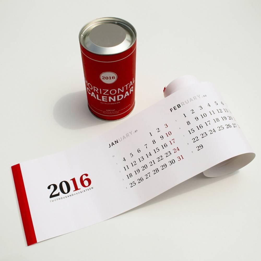 Horizontal calendar | Octagon Design