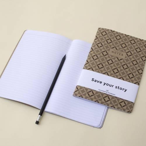 Tesselated Notebook   Set of 3   Octagon Design
